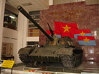 The tank that broke down the gates of the Presidemtial Palace in Saigon.