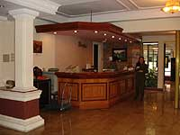 The hotel's reception area