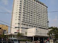 The Nikko hotel is located on a busy corner overlooking Lenin Park