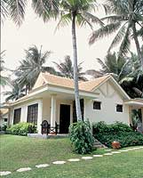 One of the resort's forty bungalows
