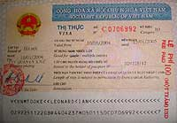 This what a  Vietnam visa looks like - the example is a one year visa - a tourist visa is much cheaper