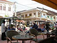 Siem Reap-Angkor Wat-The old town has pleasant pavement cafés