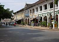 A road in Siem Reap's old town-Angkor wat in cambodia holiays