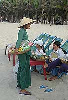 Beach vendors can be a nuisance sometimes, but most are friendly and provide a helpful service