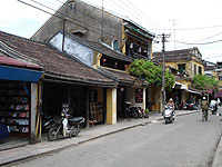 A street in the ancient town of Hoi An