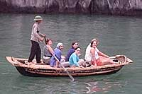 The Ha Long sampans are much faster than the classic design